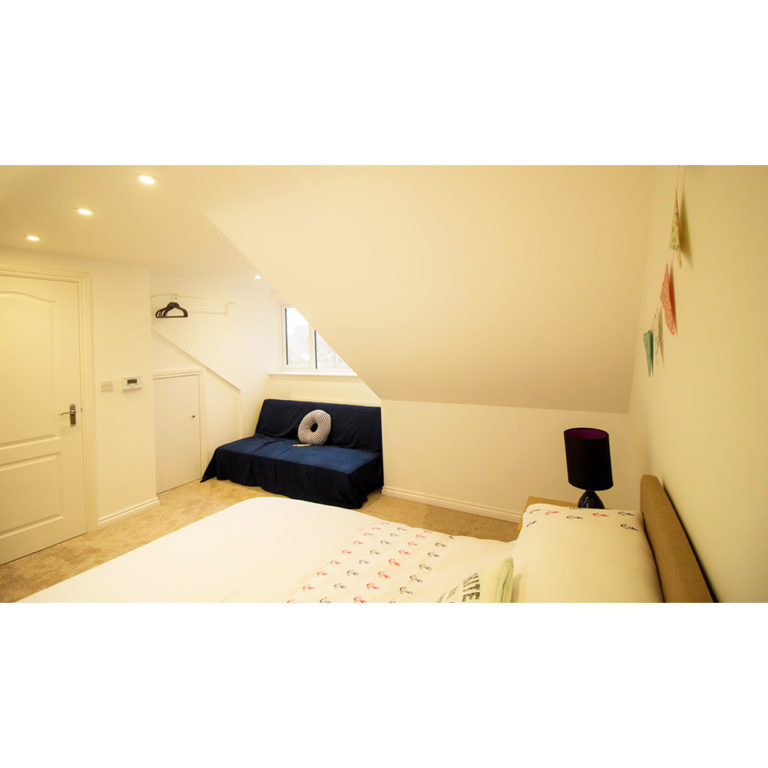 Hengistbury Reach Holiday Let Bedroom 2 with sofabed