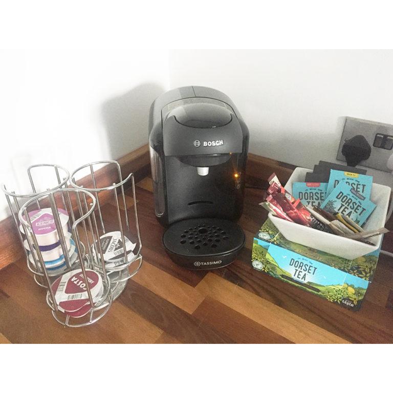 Hengistbury Reach Holiday Let Coffee tea making facilities