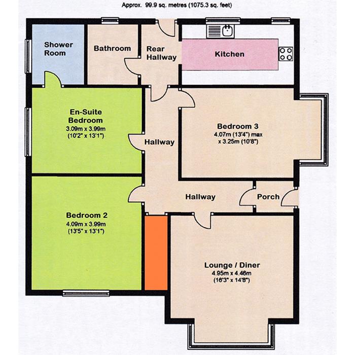 Stourwood Corner Holiday Let floor plan